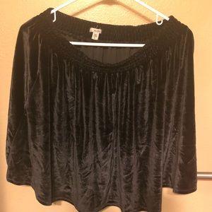 Urban Outfitters Ecote Velvet black skirt